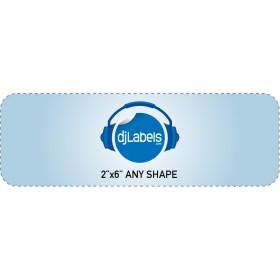 """2""""x6"""" Custom Die-Cut Vinyl Stickers"""